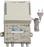 Terra HS004: Splitband amplifier, gain 34-44 dB, DIN45004B level